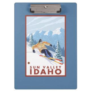 Downhhill Snow Skier - Sun Valley, Idaho Clipboard