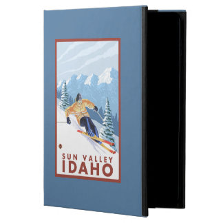 Downhhill Snow Skier - Sun Valley, Idaho iPad Air Cover
