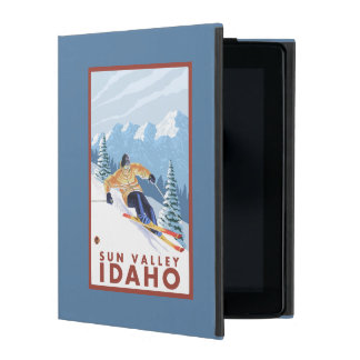 Downhhill Snow Skier - Sun Valley, Idaho iPad Folio Case