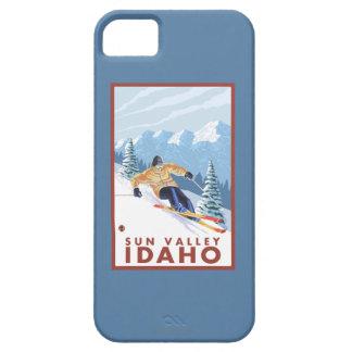 Downhhill Snow Skier - Sun Valley, Idaho iPhone 5 Cover