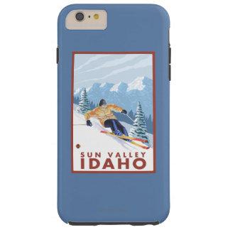 Downhhill Snow Skier - Sun Valley, Idaho Tough iPhone 6 Plus Case
