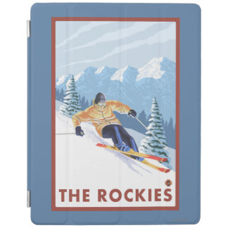 Downhhill Snow Skier - The Rockies iPad Cover