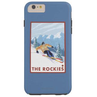 Downhhill Snow Skier - The Rockies Tough iPhone 6 Plus Case