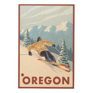 Downhhill Snow Skier- Vintage Travel Poster 2