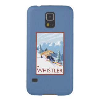 Downhhill Snow Skier - Whistler, BC Canada Case For Galaxy S5