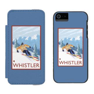 Downhhill Snow Skier - Whistler, BC Canada Incipio Watson™ iPhone 5 Wallet Case