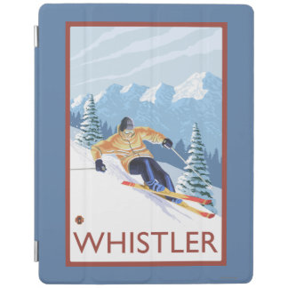 Downhhill Snow Skier - Whistler, BC Canada iPad Cover