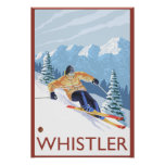 Downhhill Snow Skier - Whistler, BC Canada Poster