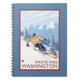 Downhhill Snow Skier - White Pass, Washington Notebooks
