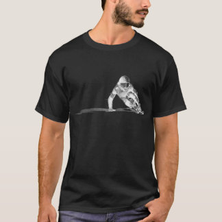 Downhiill drawing dark t-shirt