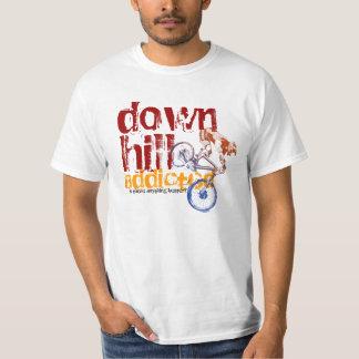 Downhill Addicted Cool Mountain Biking Design Tee Shirt