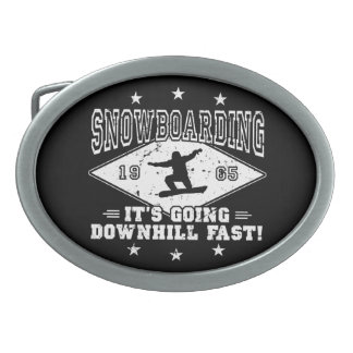 DOWNHILL FAST! (wht) Belt Buckle