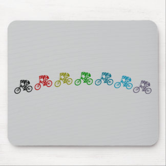 Downhill mountain bike jump mouse pad
