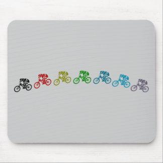 Downhill mountain bike jump mouse pad