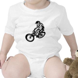 Downhill mountain bike rider baby bodysuit