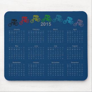 Downhill MTB jump calendar 2015 Mouse Mat