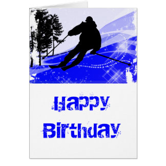 Downhill on the Ski Slope Card
