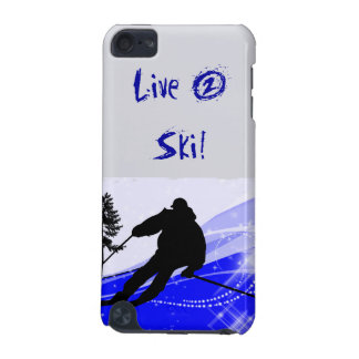 Downhill on the Ski Slope iPod Touch (5th Generation) Covers
