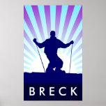 downhill ski breckenridge poster