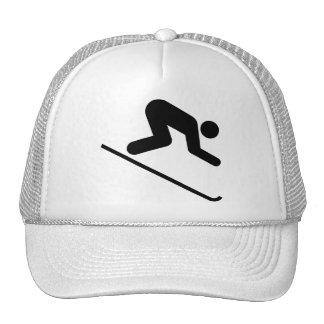 Downhill Ski Symbol Hat