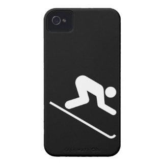 Downhill Ski Symbol iPhone 4 Cases