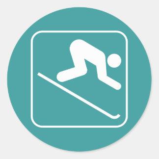 Downhill Ski Symbol Sticker