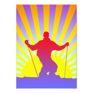 downhill skier card