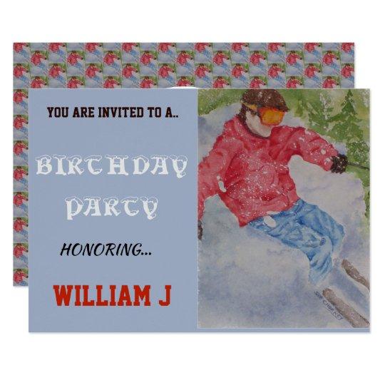 DOWNHILL SKIER INVITE