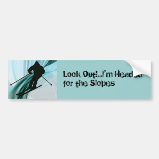 Downhill Skier on Icy Ribbons Bumper Sticker