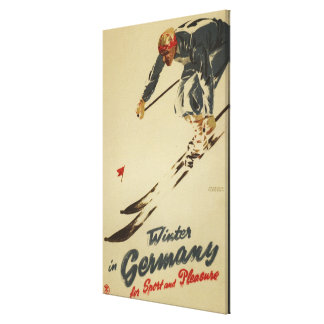 Downhill Skier - Sport and Pleasure Promo Canvas Print