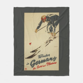 Downhill Skier - Sport and Pleasure Promo Fleece Blanket
