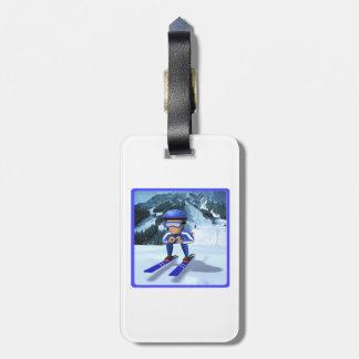 Downhill Skiing 2 Bag Tag