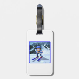 Downhill Skiing 2 Luggage Tag