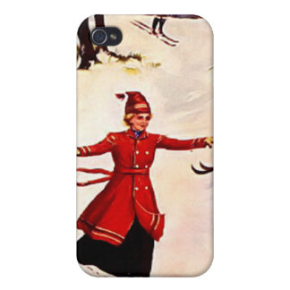 Downhill skiing case for iPhone 4