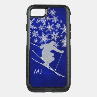 Downhill Snow Ski Blue Monogram OtterBox Commuter iPhone 8/7 Case