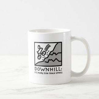 Downhill Thrill Mountain Biking Basic White Mug