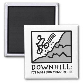 Downhill Thrill Mountain Biking Magnets