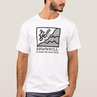 Downhill Thrill Mountain Biking T-Shirt