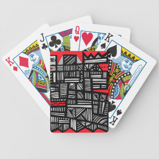 Downhour Abstract Expression Red White Black Card Decks