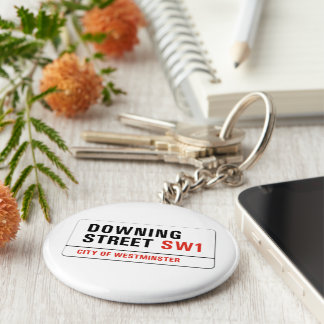Downing Street London Street Sign Keychain