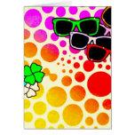 download8 summer polkadots colours sunglasses greeting card