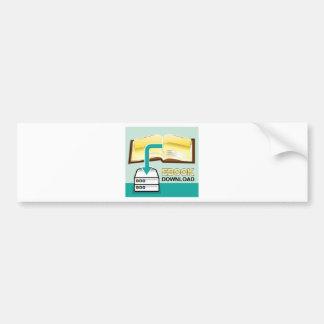 Download Golden Ebook Vector Icon Illustration Bumper Sticker
