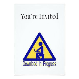 Download In Progress Toilet Humor 13 Cm X 18 Cm Invitation Card