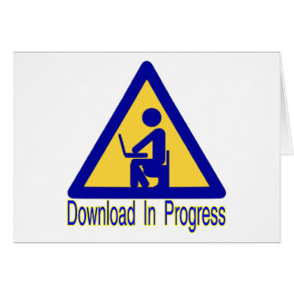 Download In Progress Toilet Humor Card