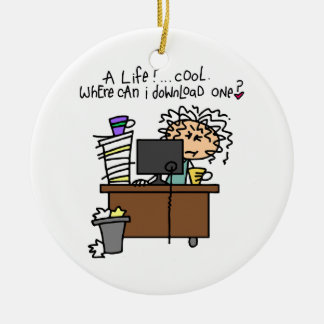 Download Life Humor Christmas Ornament