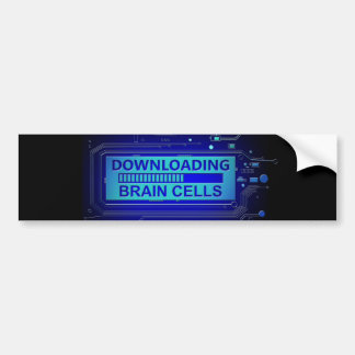 Downloading brain cells. bumper sticker