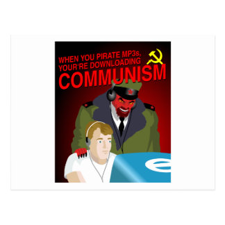 Downloading Communism Postcard