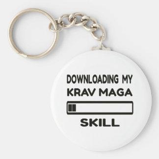 Downloading my Krav Maga skill Basic Round Button Key Ring