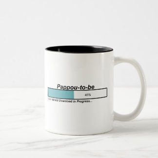Downloading Pappou to Be Two-Tone Mug