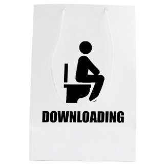 Downloading Toilet Medium Gift Bag